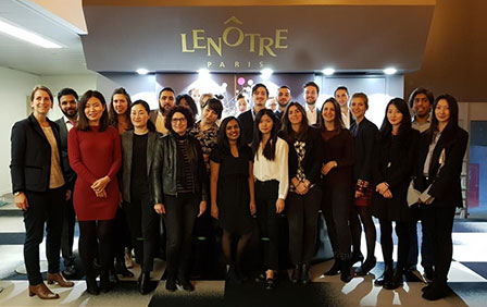 Savoury flans and desserts... Behind the scenes of Maison Lenôtre with the students of the MSc in International Project Management