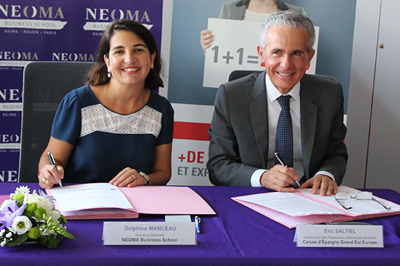 NEOMA BS and Caisse d'Epargne Grand Est Europe renew their partnership